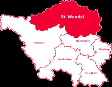 Karte Kreis-Chorverband St. Wendel