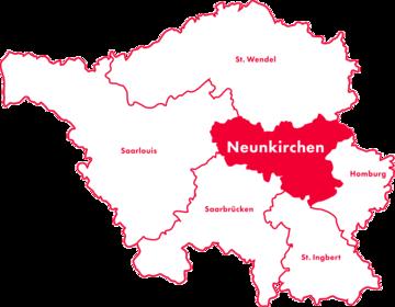 Karte Kreis-Chorverband Neunkirchen
