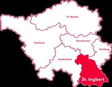 Karte Kreis-Chorverband St. Ingbert