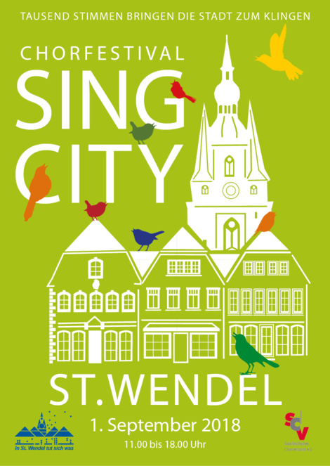 Plakat Sing City St. Wendel 2018